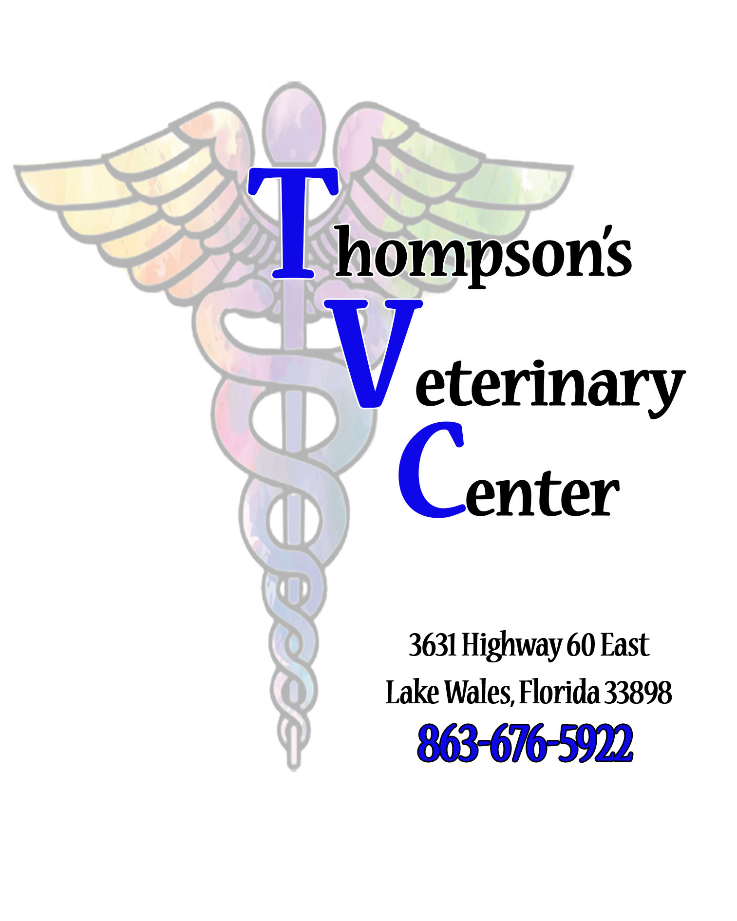Thompson's Veterinary Center logo